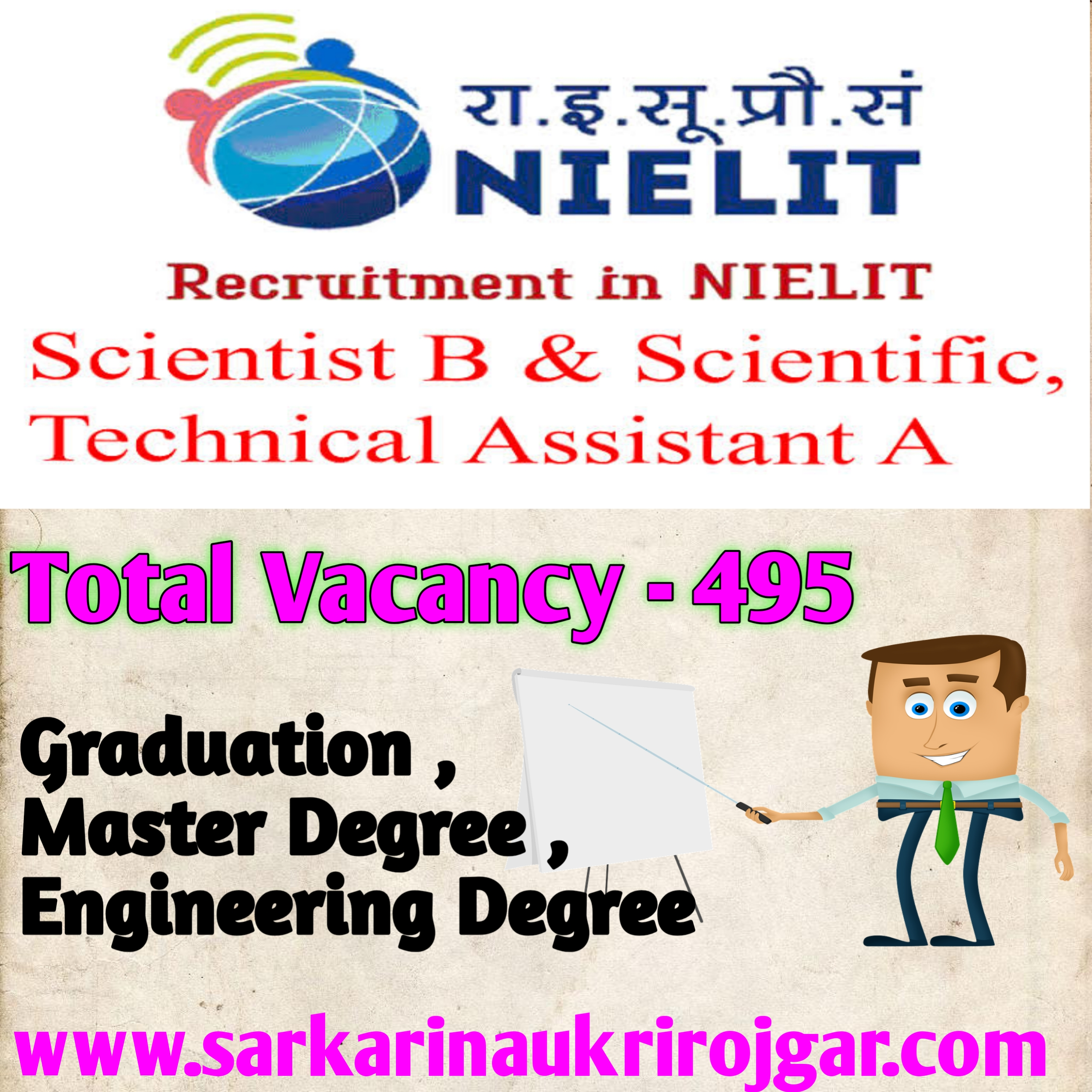 NIELIT Scientist B and Scientist Assistant Online Form 2020