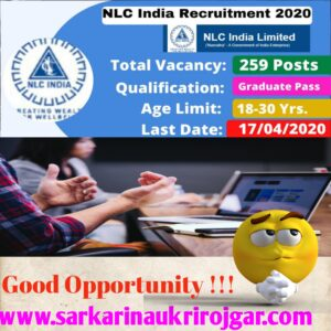 Read more about the article NLC Graduate Trainee Online Form for Various Post 2020