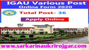 Read more about the article Indira Gandhi Agriculture University (IGAU) Recruitment 2020