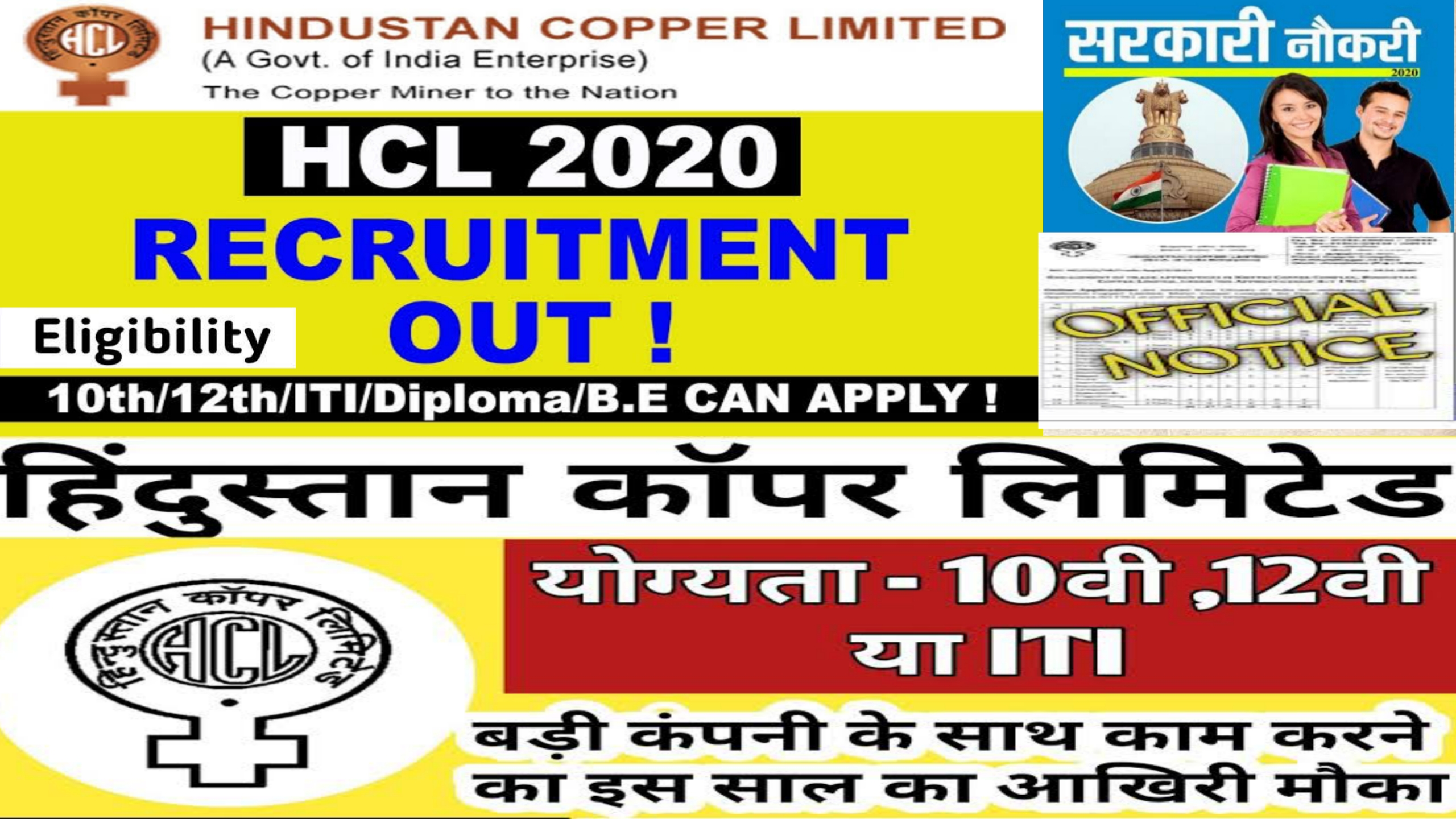 Hindustan Copper Ltd Trade Apprentice Online Form 2020