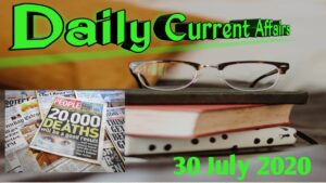 Daily Current Affairs (31July 2020)