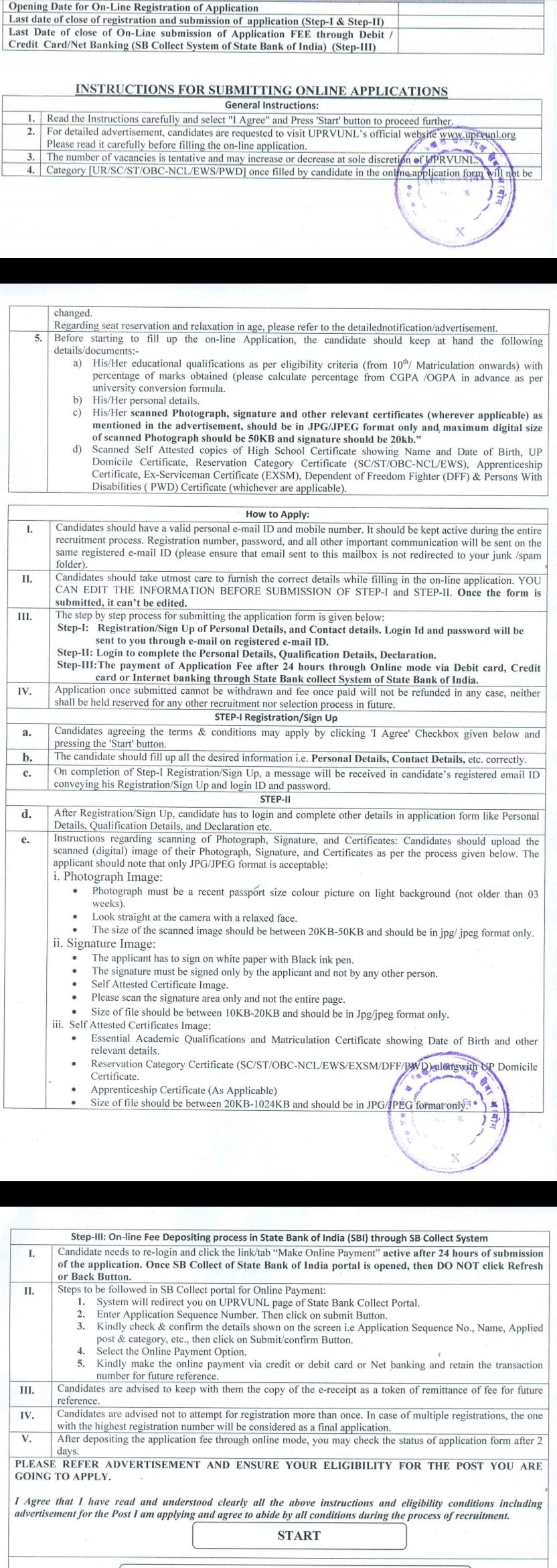 How to apply for Electricity Department Job (UPRVUNL):