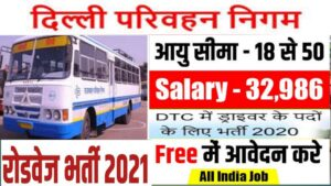 Read more about the article Delhi Parivahan Nigam Bharti 2021 I Bus Driver  Vacancy